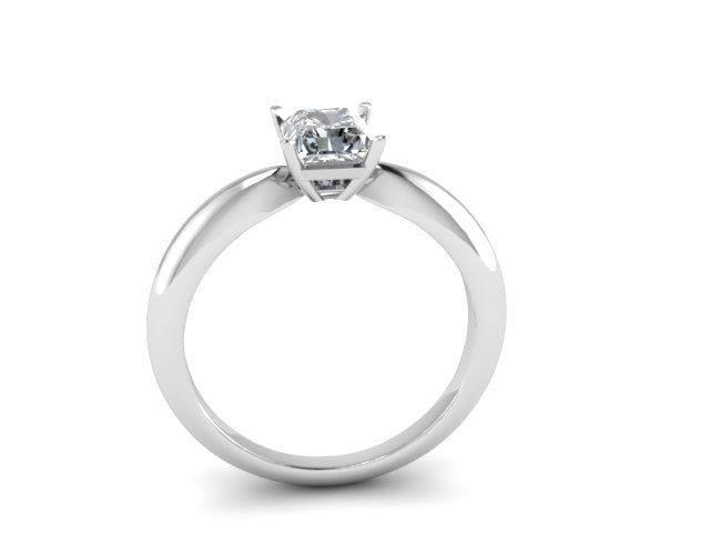 3D модель помолвочного кольца с бриллиантом